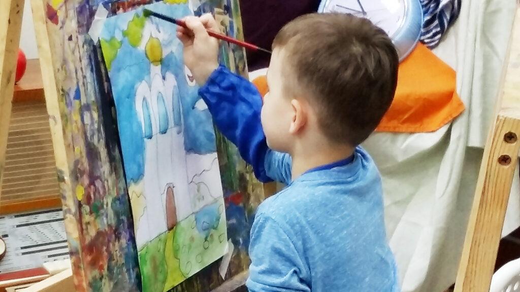 Рисование для детей 4-7 лет, студийные занятия