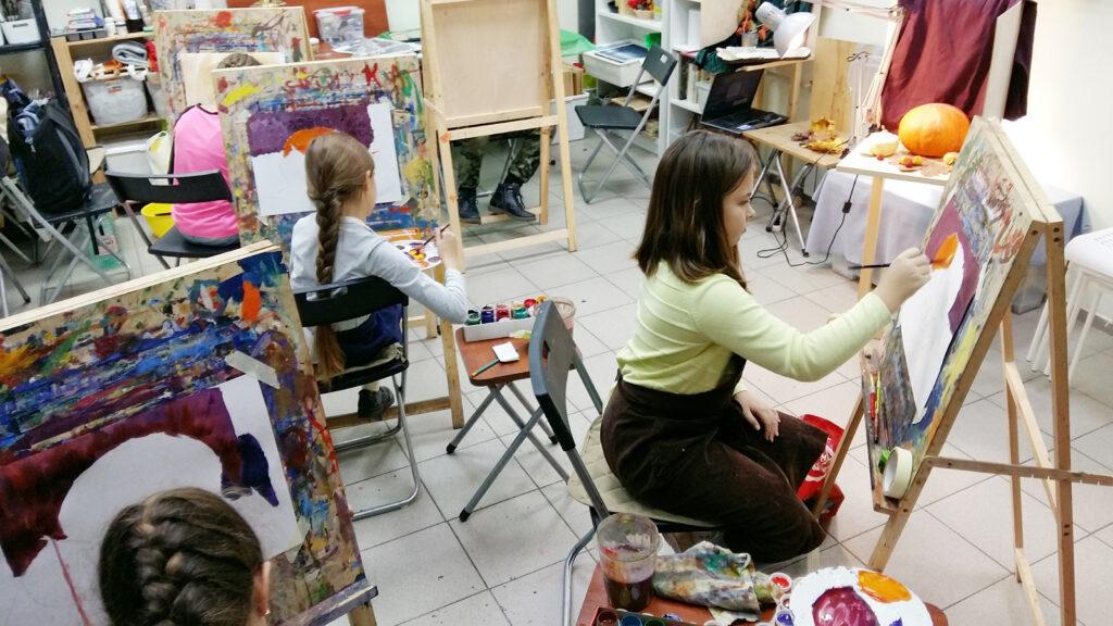 Живопись и рисунок для детей от 8 лет, студийные занятия